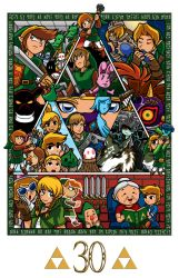 Zelda collage 30th anniversary by Thormeister