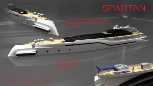 Super yacht Project Spartan 1 by KingEagle