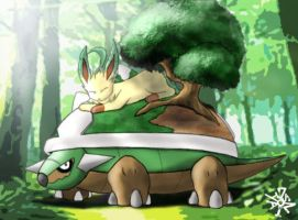 Torterra and Leafeon