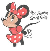 Minnie Mouse look up by cmara