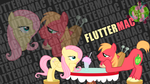 FlutterMac 'Text Name' Wallpaper by BlueDragonHans