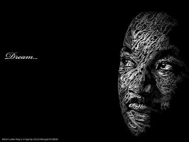 Martin Luther King Jr. in Type by Dencii