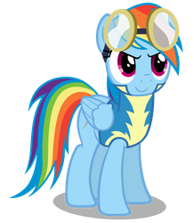 Rainbow Dash Wearing The Academy Uniform by MrLolcats17
