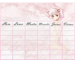 Pink Anime HOrario by candybubblesweety