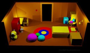 Autocad 2010-Bed Room by moonlight-fox