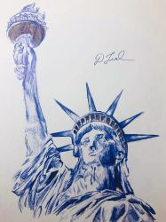 Statue of Liberty drawing  by BigStar6207