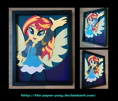 11X14 Sunset Shimmer Shadowbox by The-Paper-Pony