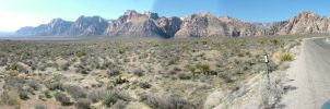 Red Rock Canyon Pano by mackdj
