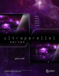 Ultraparallel Galactic Violet by submicron