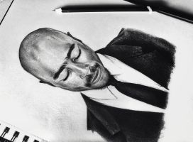 2Pac drawing by Cleicha