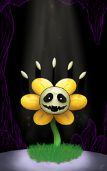 Flowey the flower by Millemoo2010