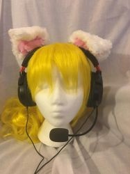 Puppy Headset/Headphone Ears by KittieKitsuneko