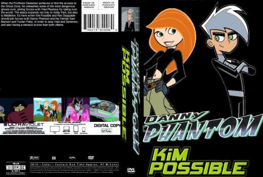 Danny Phantom Kim Possible DVD cover by SteveIrwinFan96