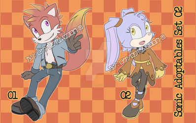 Sonic Style Auction Adoptables [OPEN!] Set 02 by UkyoDragoon