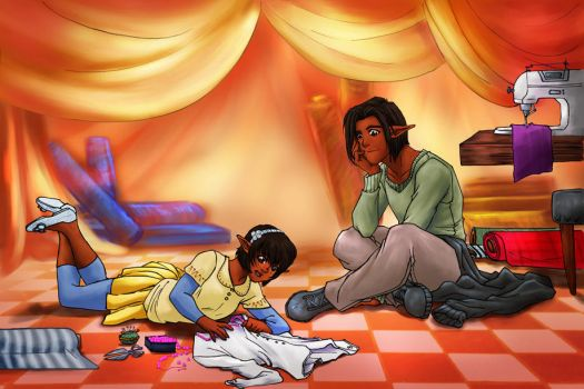 Leander and Kelsy by p-soldiers