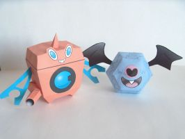 Rotom WM and Woobat