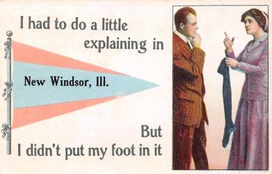 Vintage Illinois - Explaining to Do in New Winsdor by Yesterdays-Paper
