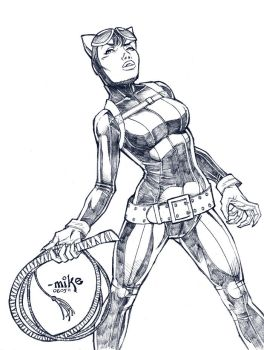 Catwoman- BnW by MikeDimayuga