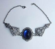 Blue Winter Necklace by Pinkabsinthe