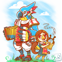 Bird Bards Day Version - Kass and Medli by SarahRichford