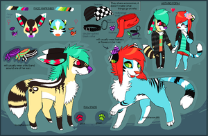 (OLD) Cake and Lolita Double Reference Sheet by SpunkyRacoon