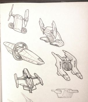 Daily Sketch - Spaceships by Snazz84