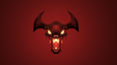 Shadow Fiend Dota 2 Low Poly Art by giftmones