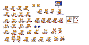 Tails sprites by sonicfanman