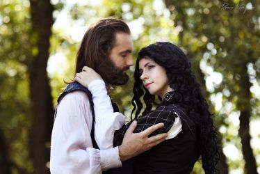 The Witcher (books).Yennefer and Istredd by Fealin-Meril