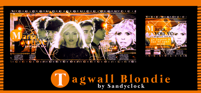 Tagwall blondie by SandyClock
