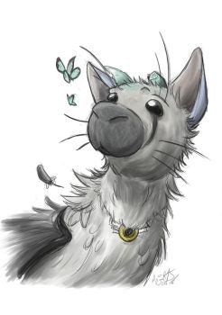 The Last Guardian : Trico Sketch by AngelMJ