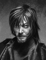 Daryl Painting: Portrait Study by CalebP1716