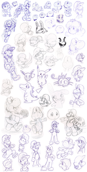 Doodles 12 by Nintendrawer