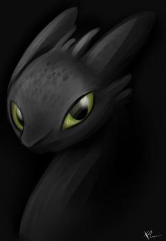 Toothless by Elemental-FA
