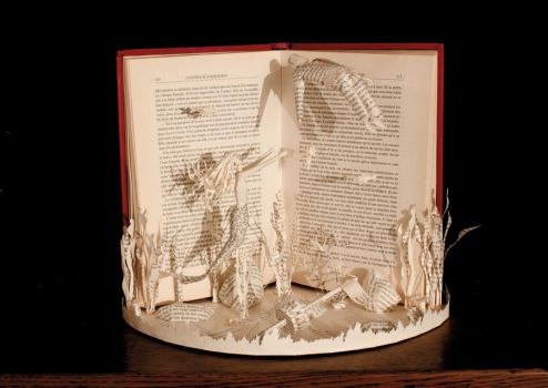 The Little Mermaid Book Sculpture by KarineDiot