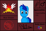 Cartez Blazing Angel: Blue Stream by stashine-nightfire