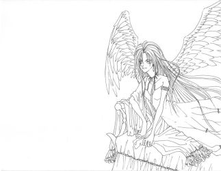 Angel on bed 3 by manzo