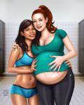 Emiko and her heavily pregnant partner Erin by nickonthedraw