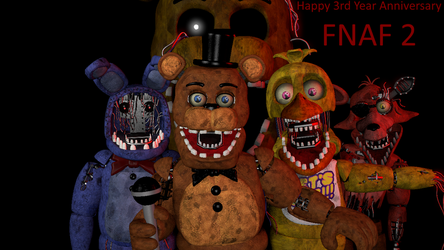 FNAF 2 Anniversary Withered Animatronics by AntonioRodriguez1000