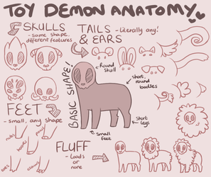 Toy Demon Anatomy by AbwettarAdopt