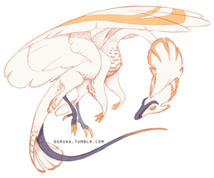Feathered dragon by DoruDrutt