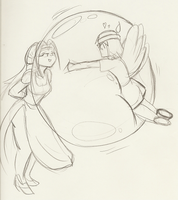 Prissy Bubble Hug - Sketch by Thiridian