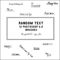 Random Text Brushes by goclo92