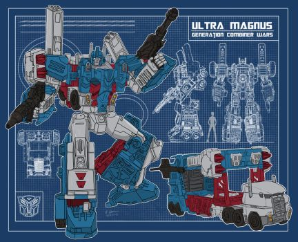 Blueprint Ultra Magnus Generation Combiner Wars by archaznable30