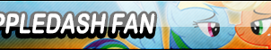 AppleDash Fan Button (Request) by Kyu-Dan
