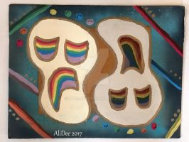 Contrasting Rainbow Masks by AliDee33