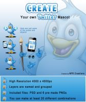 Make you own Twitter Mascot by Npr1977