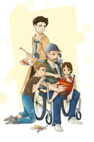 Pie and the Family by mangoranger