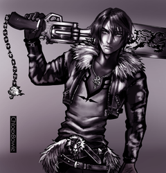 Squall Leonhart by ChloexBowie