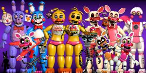 some FNaF models that I did by Adogopaper